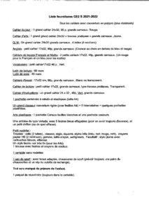 thumbnail of Fournitures CE2S-2021-2022